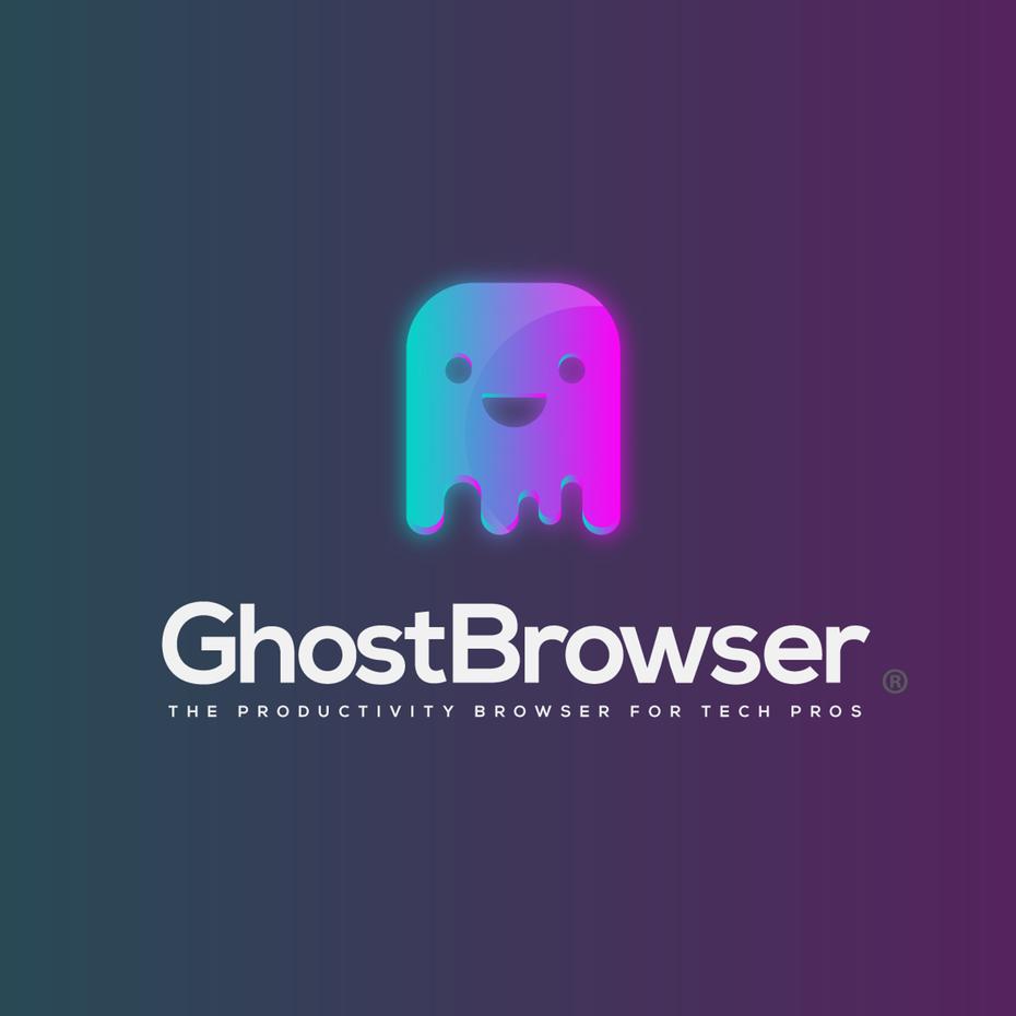 Gradient Logo with 3D Look